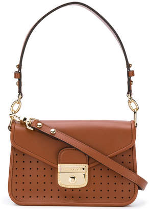 Longchamp perforated detail shoulder bag