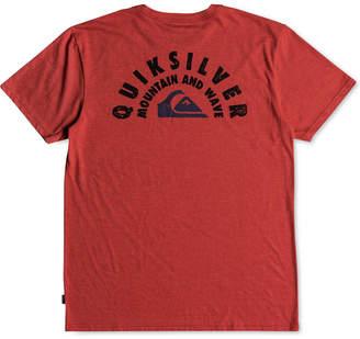 Quiksilver Men's Circle Of Grunge Logo-Print T-Shirt