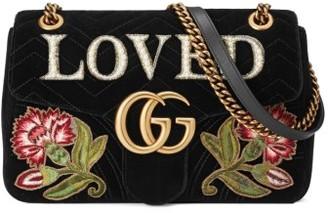 Gucci Gg Marmont Loved Velvet Shoulder Bag - None $2,700 thestylecure.com