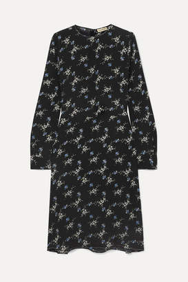 1909e5b905f By Malene Birger Garola Floral-print Crepe De Chine Dress - Black