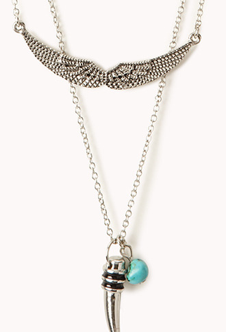Forever 21 Layered Wings Necklace