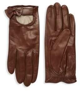 Portolano Bow Leather Gloves