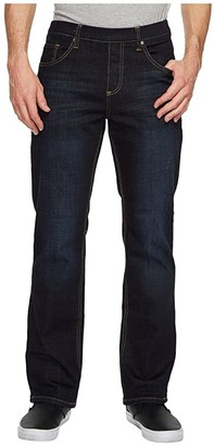 NBZ(r) Elastic Waist Straight Leg Jean in Slate Blue