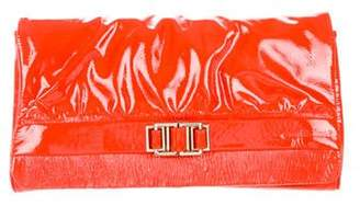 Charles David Patent Leather Fold-Over Clutch