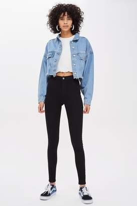Topshop Womens Black Joni Jeans - Black