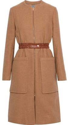 See by Chloe Faux Leather-Trimmed Wool-Blend Twill Coat