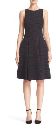 Women's Armani Collezioni Polka Dot Jacquard Jersey Dress $975 thestylecure.com
