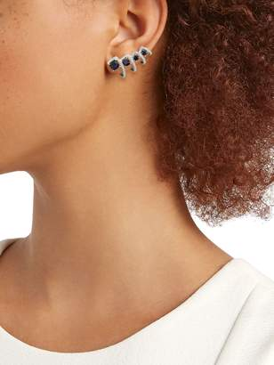 Hueb 18K White Gold, Blue Sapphire & Diamond Drop Earrings