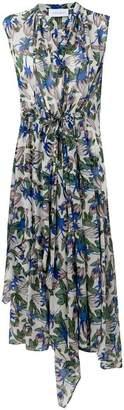Christian Wijnants Daran blossom-print asymmetric midi dress