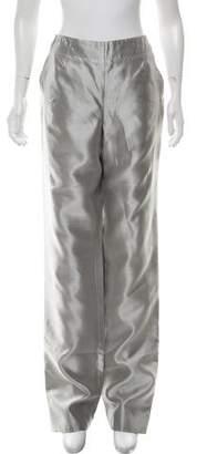 Giorgio Armani Silk Wide-Leg Pants w/ Tags
