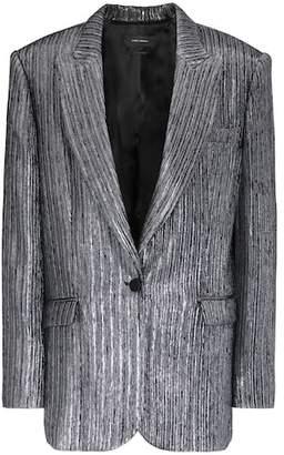 Isabel Marant Datja metallic silk-blend blazer