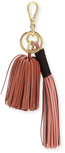 Altuzarra Altuzarra Leather Tassel Key Chain/Bag Charm, Pink