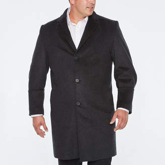 STAFFORD Stafford Wool Blend Vented Back Topcoat - Big and Tall