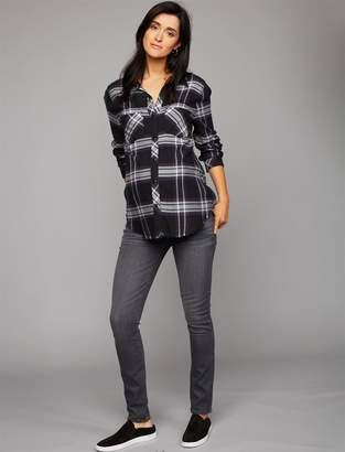 Paige Pea Collection Side Panel Verdugo Ultra Skinny Maternity Jeans