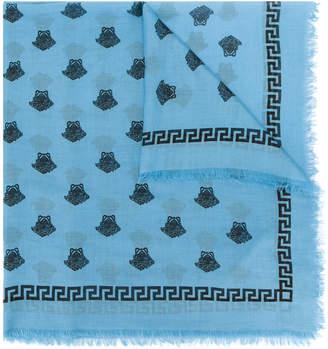 Versace Medusa print scarf