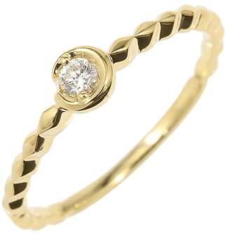 Star Jewelry 18K Yellow Gold & 0.06ct Diamond Engagement Ring Size 5.25