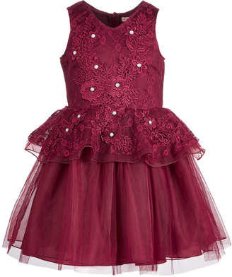 Nanette Lepore Big Girls Embroidered Lace Dress