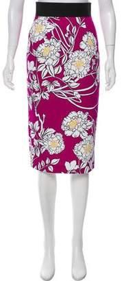 L'Wren Scott Floral Print Knee-Length Skirt