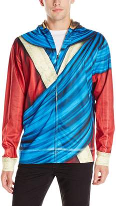 Faux Real Men's Jesus Mask Zip-Up Mask Hoodie Red XX-Large