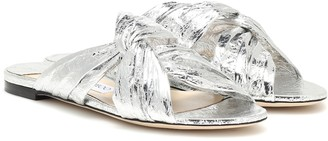 Jimmy Choo Lela leather slides