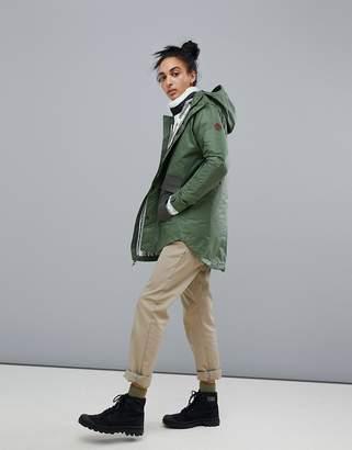 Burton Snowboards Flare Parka Rain Jacket in Green