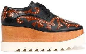 Stella McCartney Studded Appliquéd Faux Leather Platform Brogues
