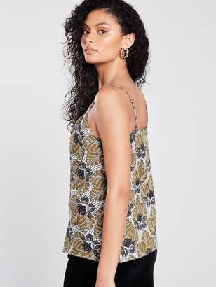 River Island Printed Cami - Black