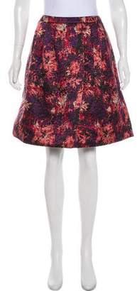 Peter Som Knee-Length Abstract Print Skirt