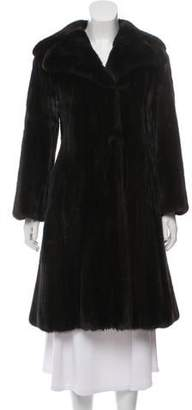 Ben Kahn Mink Fur Knee-Length Coat