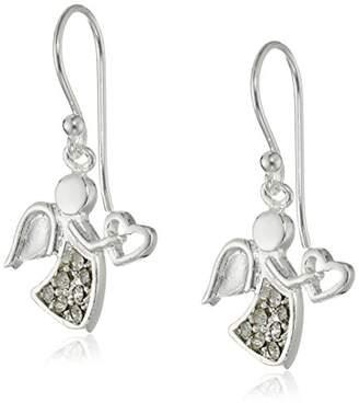 Plated Holiday Angel Dangle Earrings