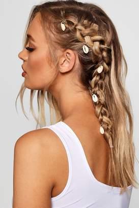 boohoo Shell Hair Rings 5 Pack