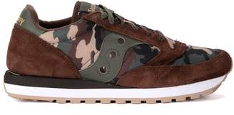 Saucony Jazz Brown Suede And Camouflage Fabric Sneaker