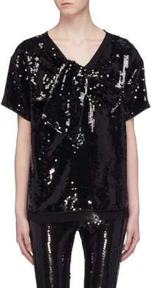 Marc Jacobs Bow tie sequin top