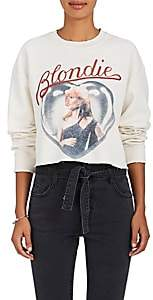 "Madeworn Women's ""Blondie"" Cotton-Blend Cropped Sweatshirt - Dirty White"