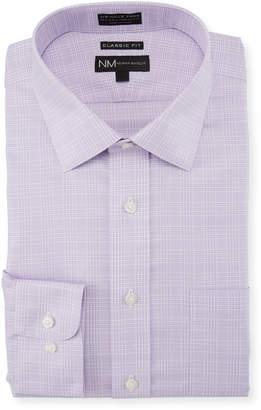 Neiman Marcus Classic-Fit Non-Iron Check Twill Dress Shirt