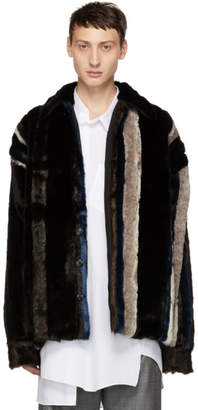 Y/Project Brown Faux Fur Jacket