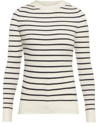 Joostricot - Striped Cotton Blend Sweater - Womens - White Navy