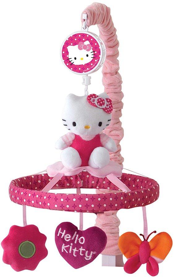 Lambs & Ivy Musical Mobile - Hello Kitty Garden