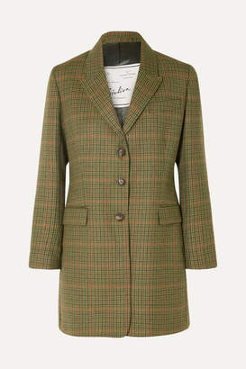 Giuliva Heritage Collection Karen Checked Wool Blazer - Green