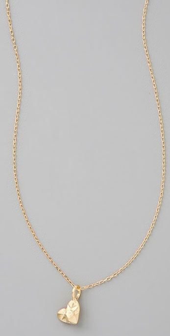 Giles & Brother Faceted Heart Necklace