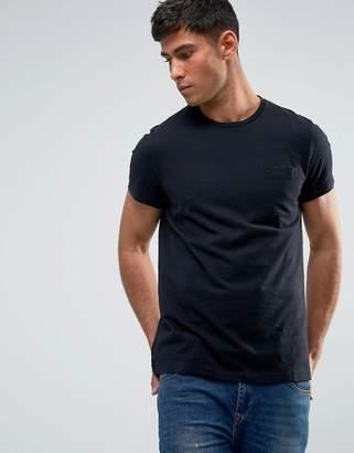Jack Wills Ayleford Slim Fit Pocket T-Shirt In Black