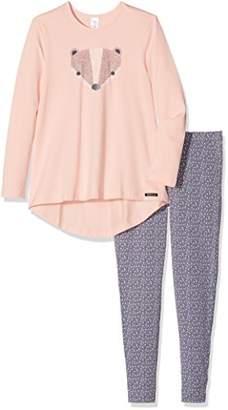 Skiny Girl's Lovely Dreams Sleep Lang Pyjama Set, Mehrfarbig (Fusion Pink 9214), (7-8 Years)