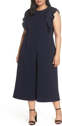 Chelsea28 Pleat Shoulder Crop Jumpsuit