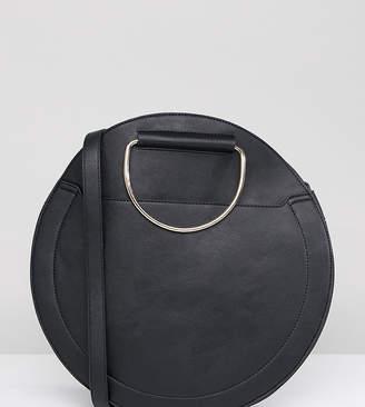 Accessorize large black circular bag
