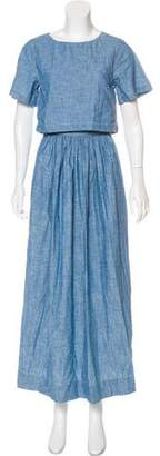 Chloé Cutout Short Sleeve Maxi Dress