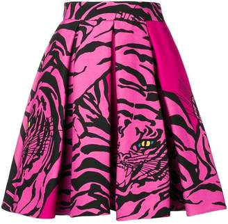 Valentino tiger print flared mini skirt