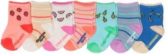 Osh Kosh Oshkosh Bgosh Baby / Toddler Girl 7-pack Fruit Crew Socks