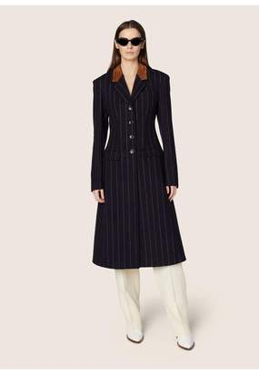 Derek Lam Tailored Coat With Leather Detail