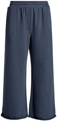 Alexander Wang Wide-Leg Cropped Sweatpants with Cotton