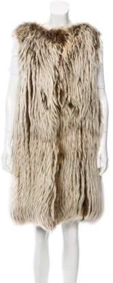 Oscar de la Renta Longline Fur Vest w/ Tags